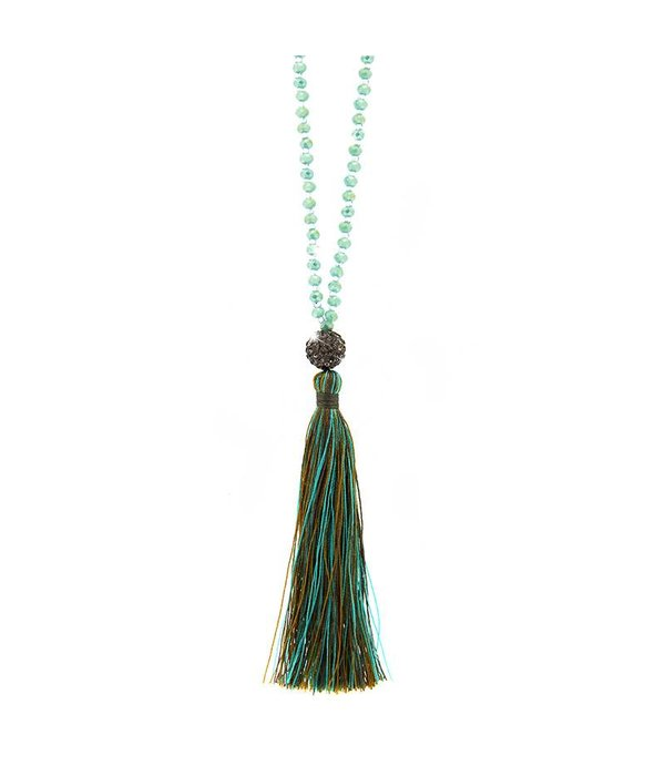 Necklace Catia, mint/blue diamond/green mix