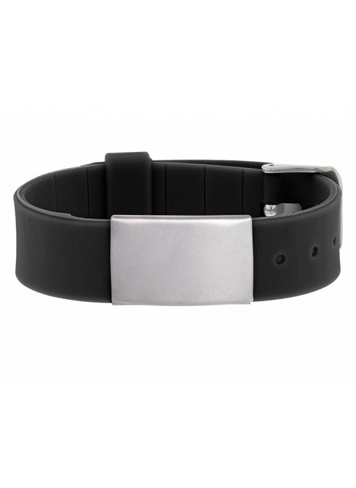 HealthID Zwart SOS Armband