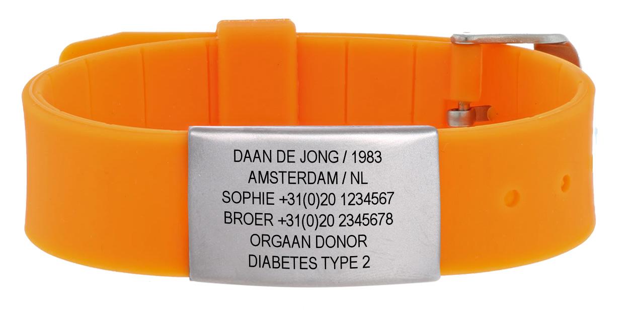 Geliefde sos armband en sportid voor fietsers & hardlopers - id's me #QU66