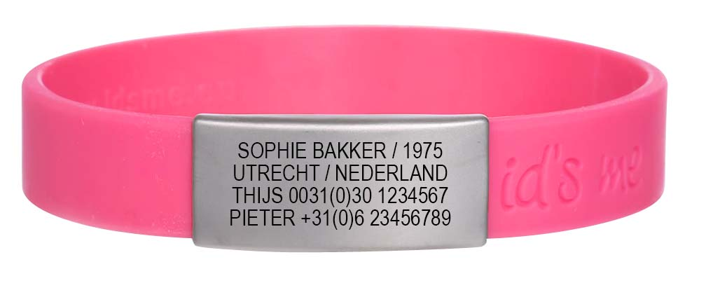 Extreem sos armband en sportid voor fietsers & hardlopers - id's me &TV97