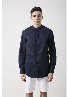 Afriek Navy Blue Mao Shirt