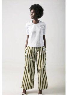 Afriek Pleated Trousers Golden Stripes