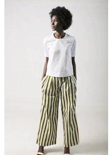 Afriek Golden Stripes Pleated Trousers