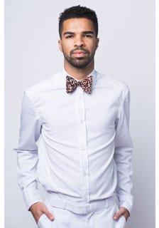Afriek Saffron Beige Bow Tie