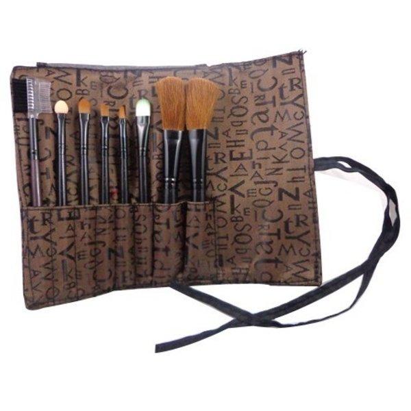Makeup Brush Set - 8 pieces brown