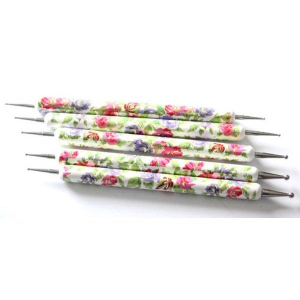 Flower Dotting Pens - Set 5 pieces