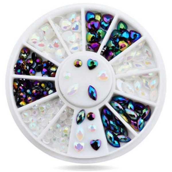 Nail Art Wheel - Multicolor Crystal Gems