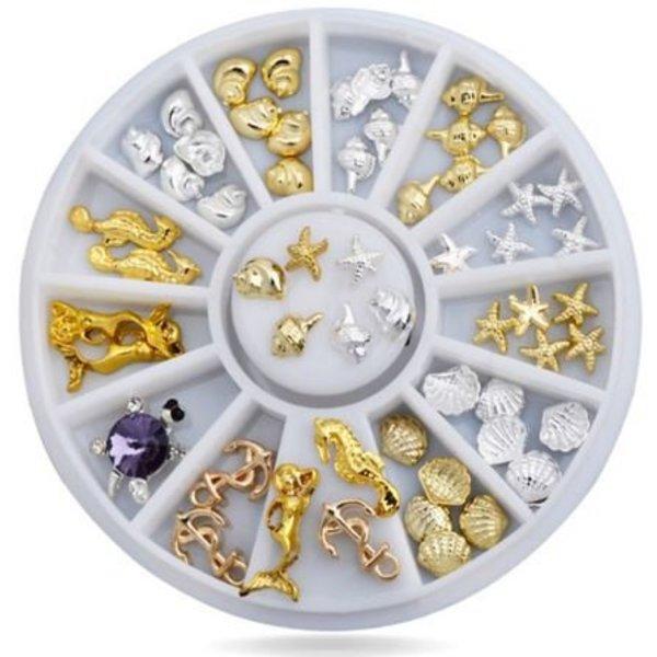 Nail Art Wheel - Gold & Silver Under The Sea