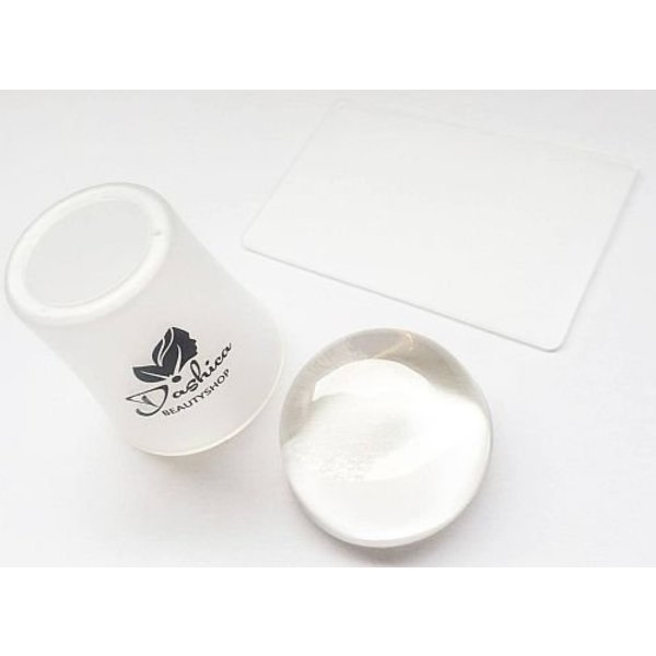 Dashica Jumbo Stamp 4CM - Clear Jelly + Plastic Scraper