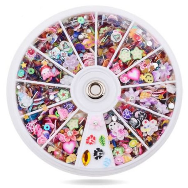 Nail Art Wheel - Mixed Styles (Large Wheel)