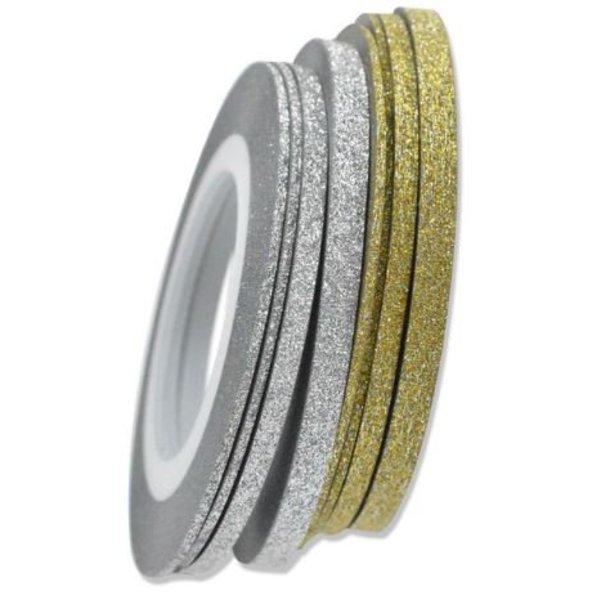 Striping Tape - Silver Glitter - Copy