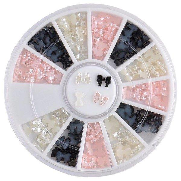 Nail Art Wheel - Pearl Bows (3 colors)
