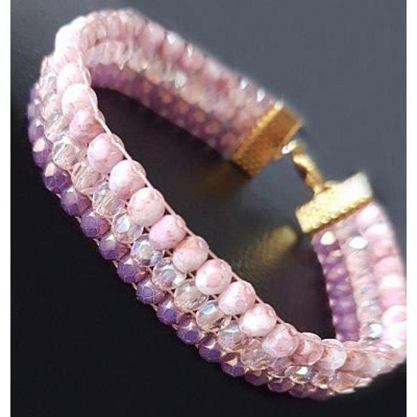 SLAM! Ibiza Style Bracelet - Fire Polishes Beads