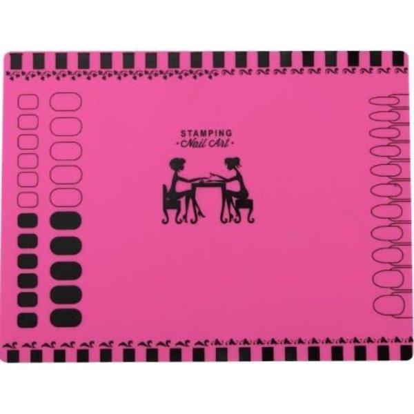 Stamping Silicone Mat - Pink XL