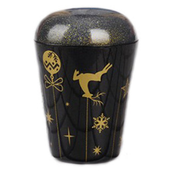 Christmas Glitter Stamp & Scraper - Bells Gold Brown
