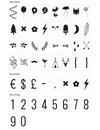 Set pour Lightbox: Chiffres et Symboles