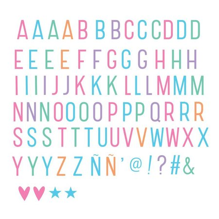 ALLC Lightbox Letter Set: Basis Pastel