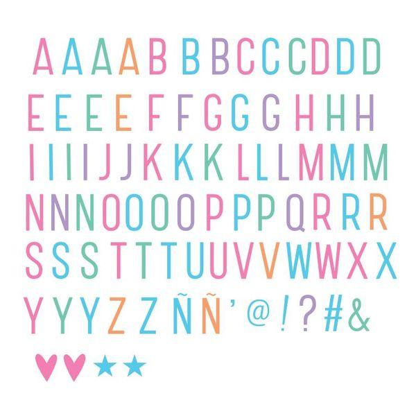 Lightbox Letter Set: Basis Pastel