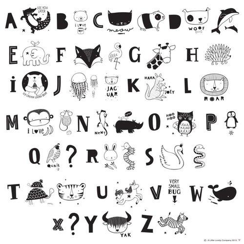 ALLC Lightbox Letter Set: ABC Zwart