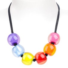 ZSISKA Colourful Beads multicolor - verstelbare halsketting