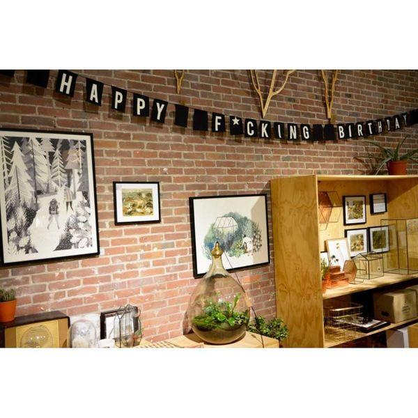 """Drapeau bannière """"HAPPY F*CKING BIRTHDAY"""""""