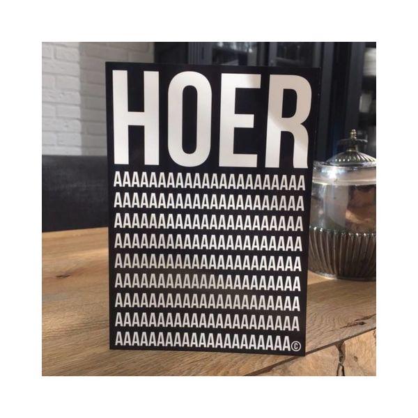 """Carte d'anniversaire """"HOERa"""""""