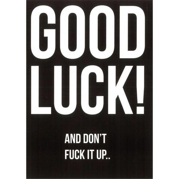 "Carte de voeux ""Good luck"""