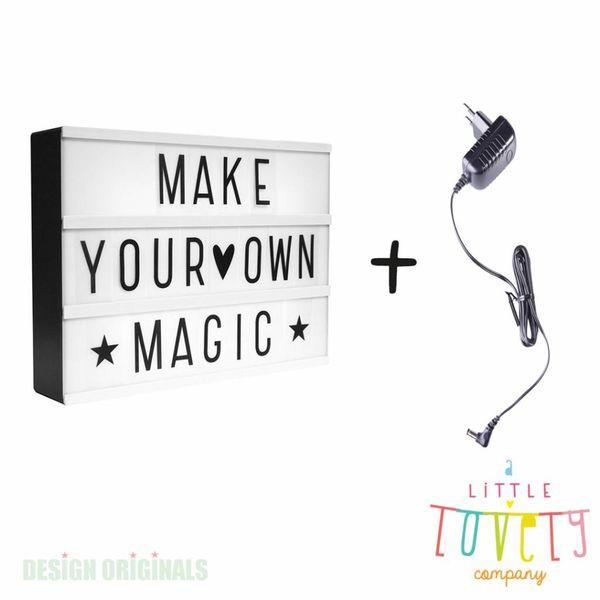 Lightbox A4: Zwart + gratis adapter