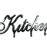 "zilverkleurige kapstok/handdoekhaak ""kitchen"""