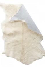 Mars & More Vloerkleed geitenhuid wit/crème L90xB60cm