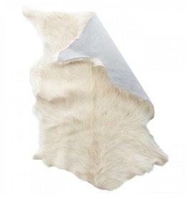 Vloerkleed geitenhuid wit/crème L90xB60cm