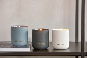Braxton Cira fragrance candle, fire wood