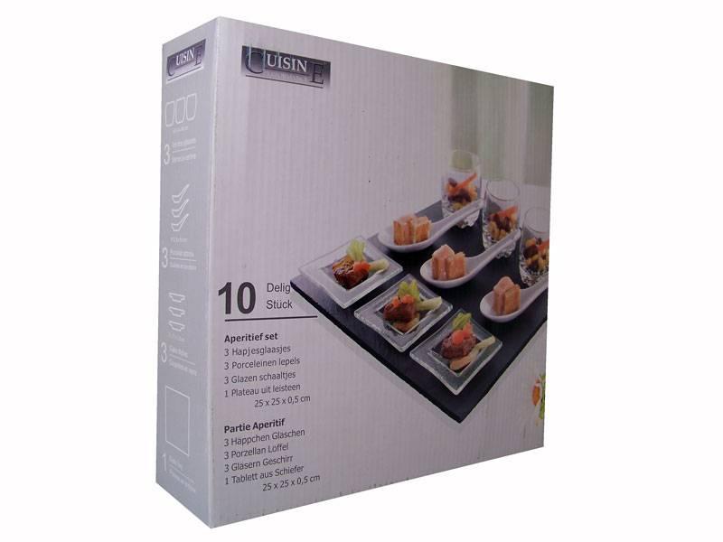 Cuisine Performance Aperitief-, tapasset leisteen (10 delig)