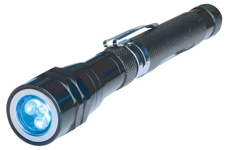 Bruder Mannesmann LED Zaklamp (magnetisch, telescopisch)