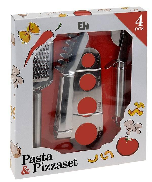 Excellent Houseware Pasta- en pizzaset (set van 4)