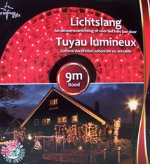 Lichtslang rood (9 m)
