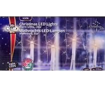 Christmas gifts Kerstverlichting ijspegels wit (240 LED's)