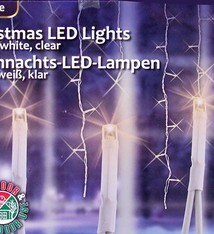 Christmas gifts Kerstverlichting ijspegels wit (240 LED's)