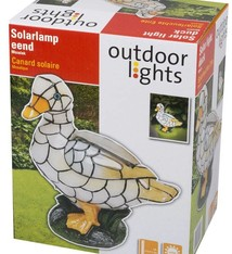 Outdoor Lights LED solarlamp eend mozaiek