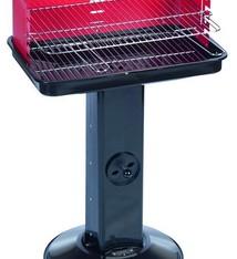 BBQ collection Stalen kolom barbecue (rood windscherm)