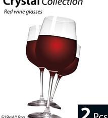 Rode wijn glazen