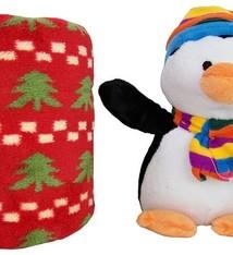 Pluche pinguin met deken