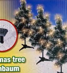 Solar kerstbomen (set van 5 stuks)