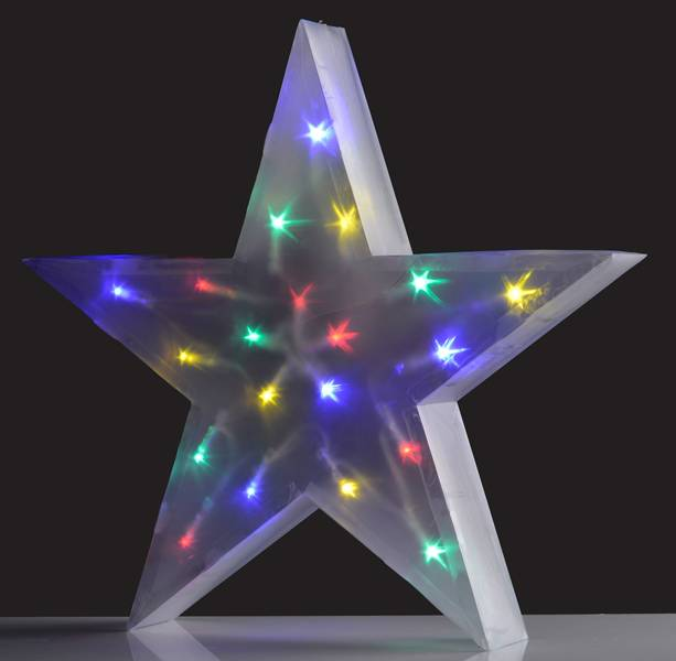 Christmas Gifts Christmas gifts Holografische ster, meerkleurig (16 LED's)