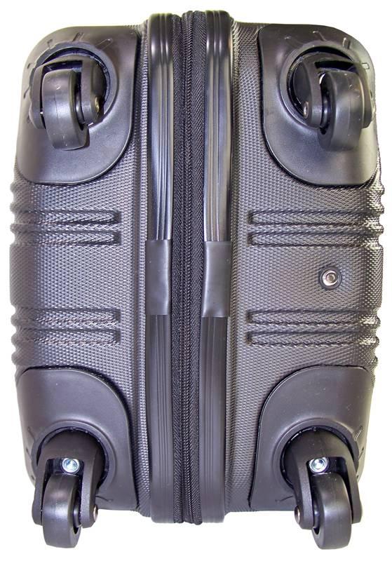 Ceruzo Ceruzo Trolley cabin size ABS (zwart)