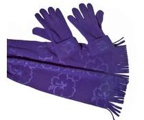 Cadriano Cadriano Fleece sjaal met handschoenen (blauw)