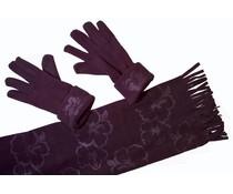 Cadriano Cadriano Fleece sjaal met handschoenen (zwart)
