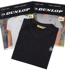 Dunlop 4-Pack T-shirt met V-hals 3 kleuren L