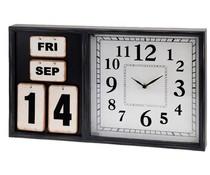 Segnale Wandklok met kalender (50x30x5)