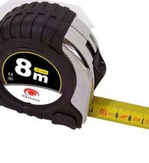 Q Flexx Stalen rolbandmaat 8 meter (25mm)